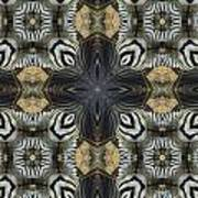 Zebra Cross II Art Print