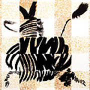 Zebra In Flight Art Print