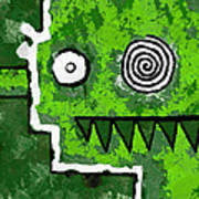 Zeeko - Green Art Print