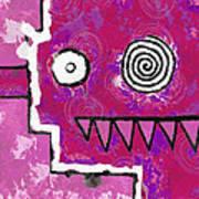 Zeeko - Pink Art Print