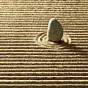 Zen Stone On Sand Art Print