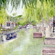 Zhou Zhuang Watertown Suchou China 2006 Art Print