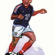 Zinedine Zidane 01 Art Print