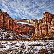 Zion Canyon In Utah Art Print