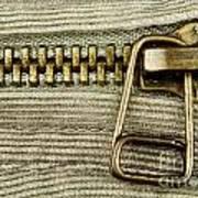Zipper Detail Close Up Art Print by Blink Images