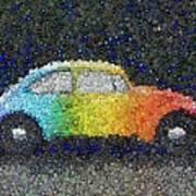 Zodiac Vw Bug Mosaic Art Print
