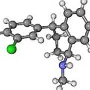 Zoloft Antidepressant Drug Molecule Art Print by Laguna Design