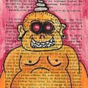 Zombie Buddha Art Print