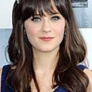 Zooey Deschanel At Arrivals For Film Print by Everett