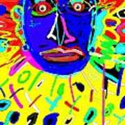 Zulu Yellow- Turquoise Art Print