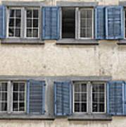 Zurich Window Shutters Art Print