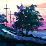 Evening Coast Art Print