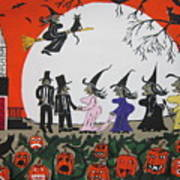 A Halloween Wedding Art Print
