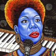 A Part Of Nina Simone Art Print