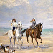 A Ride By The Sea Art Print