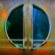 Art Deco Door In Halifax Nova Scotia Art Print