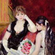 At The Concert Print by Pierre Auguste Renoir