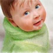 Baby Blue Eyes Art Print by Michael Greenaway