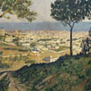 Barcelona Seen From Vallvidrera Art Print