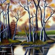Birch Bay Lagoon Dreamy Mirage Art Print