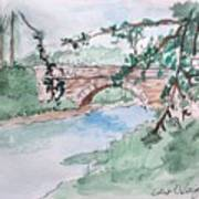Bridge At Bellevue Gate Lodge Co. Wexford Art Print