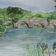 Bridge  In Bunclody, Ireland Art Print