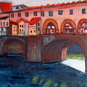 Bridge On The Arno Art Print