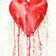 Broken Heart - Bleeding Heart Art Print