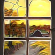 Broken Window Dreamy Mirage Art Print