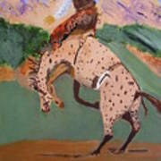 Bronco Rider On A Horse Art Print