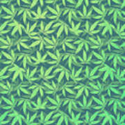 Cannabis   Hemp  420   Marijuana  Pattern Art Print