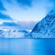 Cool Blue Dawn Over Mount Olstind Art Print