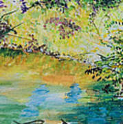 Creekside Art Print by Lucinda  Hansen