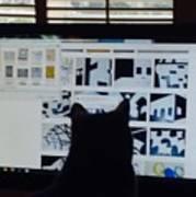 Critic Cat Art Print