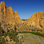 Crooked River At Smith Rock State Park Oregon  Art Print