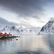 Dawn At Hamnoy On The Lofoten Islands Art Print