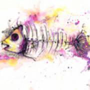 Fish Bones Art Print