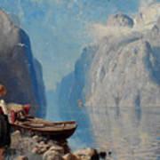 Fjord Landscape Art Print