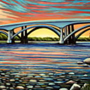 Folsom Bridge Art Print