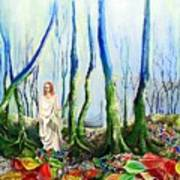 Forest Of Divine Light Art Print