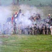 Gettysburg Confederate Infantry 7503c Art Print