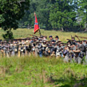 Gettysburg Confederate Infantry 9270c Art Print