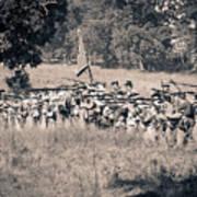 Gettysburg Confederate Infantry 9270s Art Print