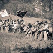 Gettysburg Confederate Infantry 9281s Art Print