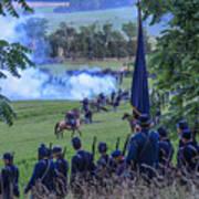 Gettysburg Union Artillery And Infantry 7457c Art Print