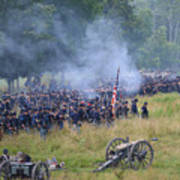 Gettysburg Union Artillery And Infantry 8456c Art Print