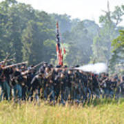Gettysburg Union Infantry 9372c Art Print