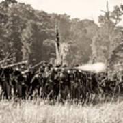 Gettysburg Union Infantry 9372s Art Print