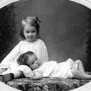 Girls Posing June 30 1905 Black White 1900s Art Print