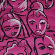 Girls Think Pink  Art Print